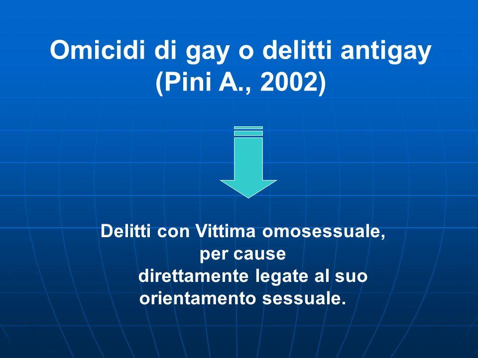 Omicidi di gay o delitti antigay (Pini A., 2002)