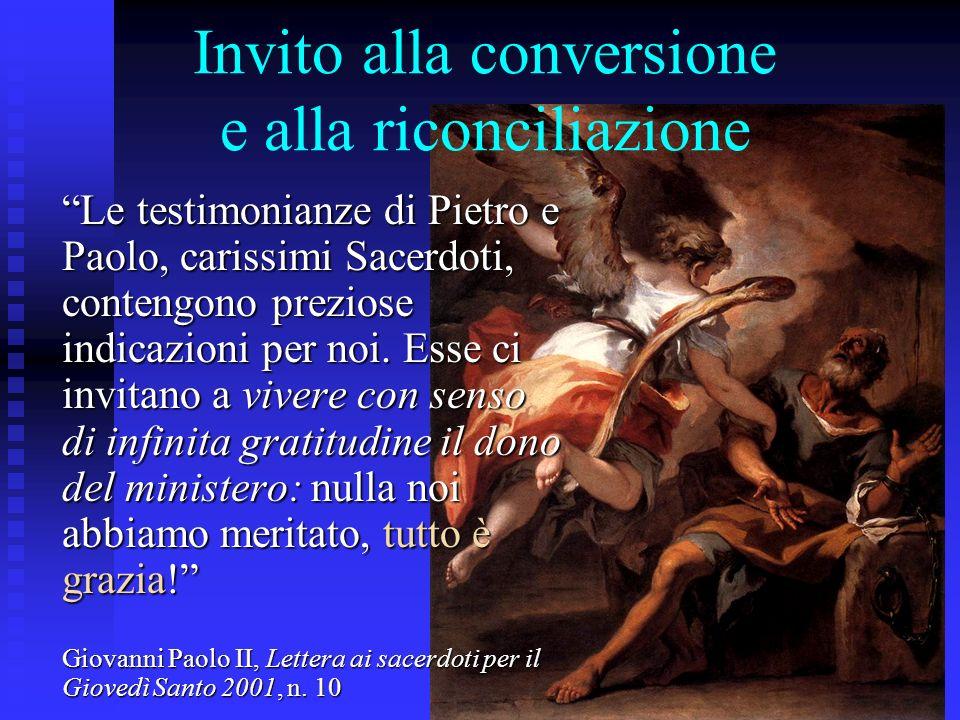 Invito alla conversione e alla riconciliazione