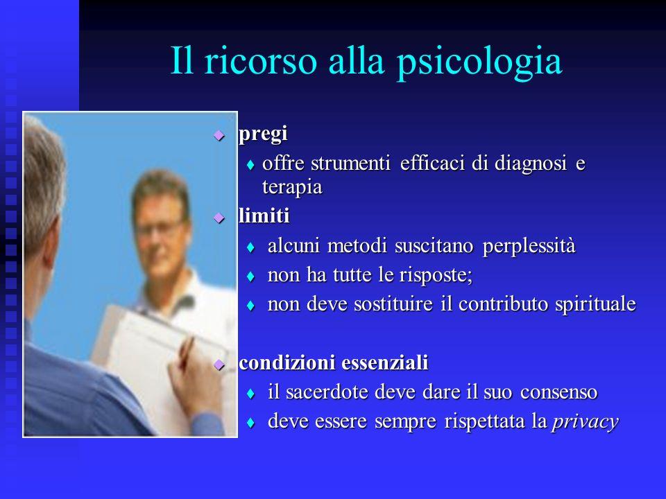 Il ricorso alla psicologia