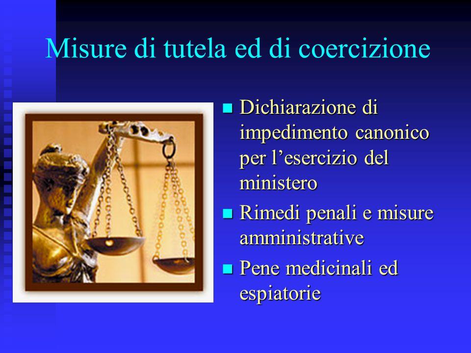 Misure di tutela ed di coercizione
