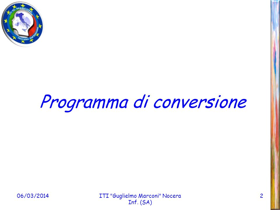 Programma di conversione