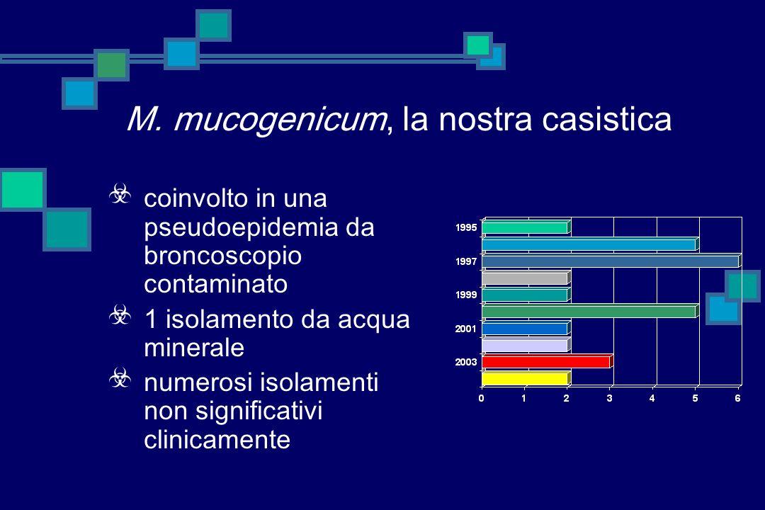 M. mucogenicum, la nostra casistica