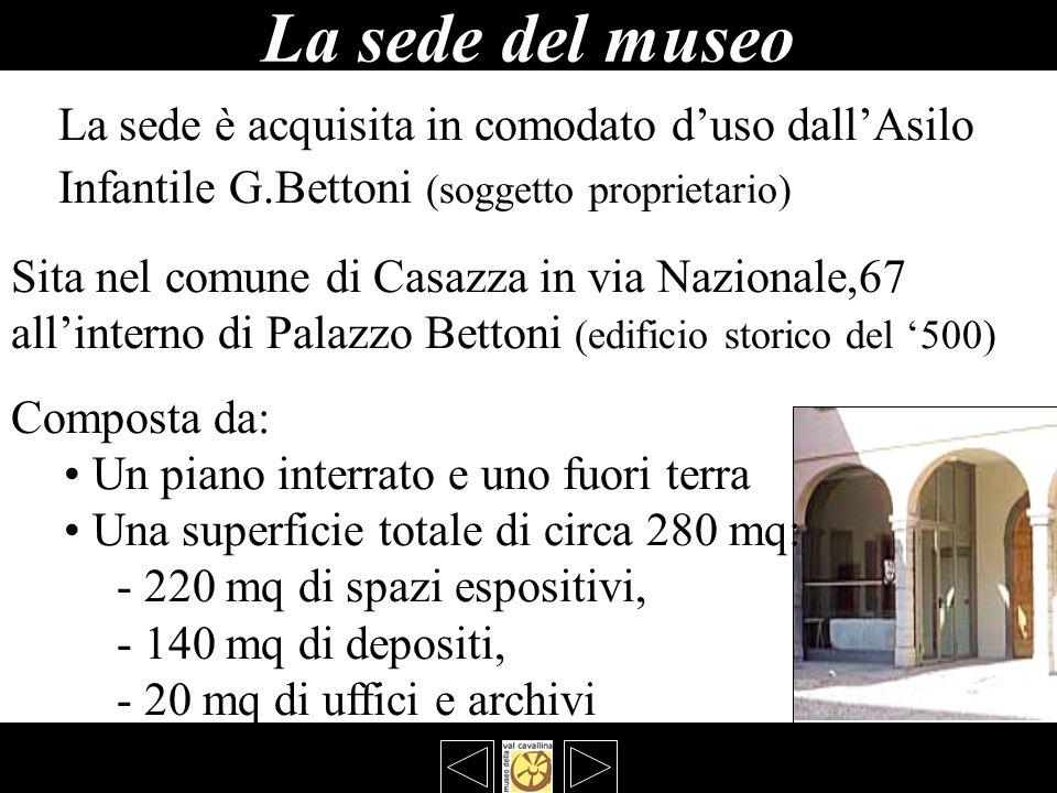 La sede del museo La sede è acquisita in comodato d'uso dall'Asilo