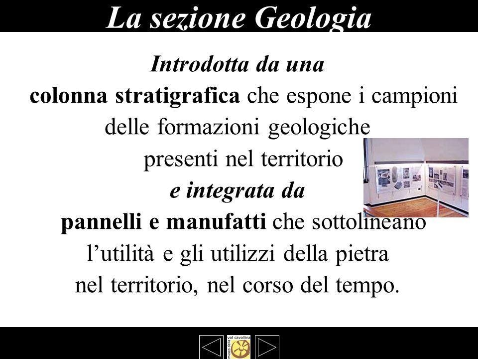 La sezione Geologia Introdotta da una