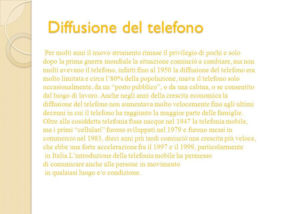 Diffusione del telefono