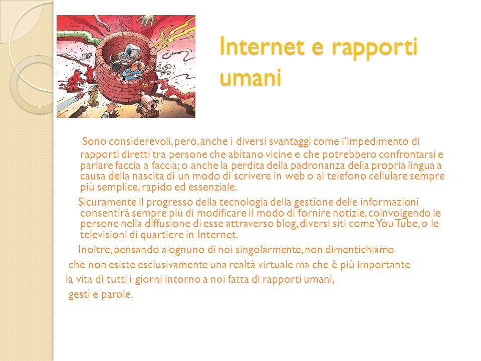 Internet e rapporti umani