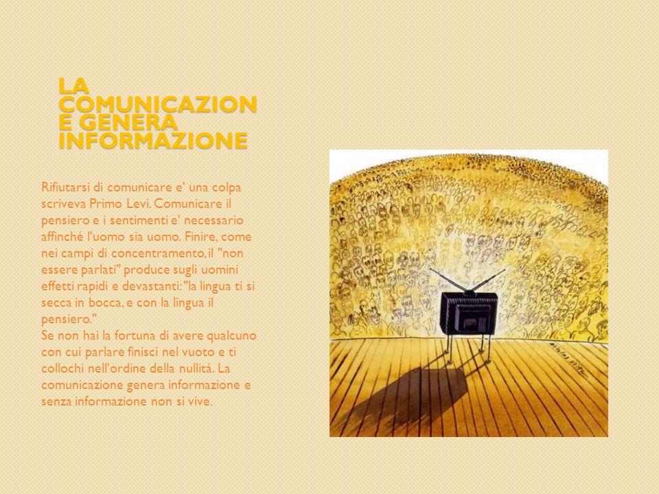 La comunicazione genera informazione