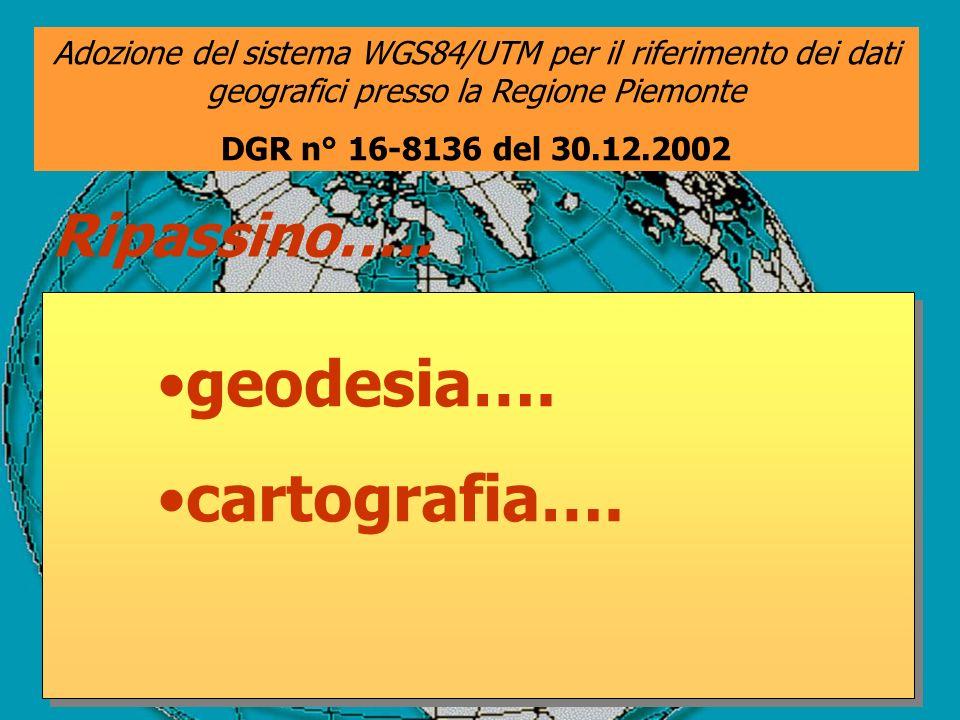 geodesia…. cartografia…. Ripassino…..