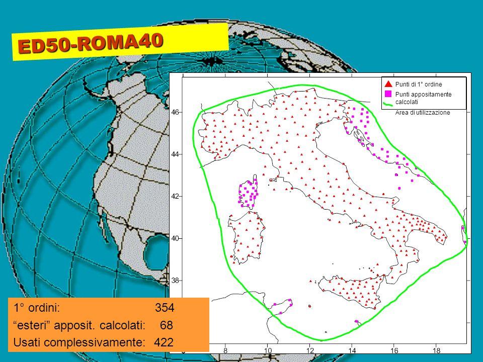 ED50-ROMA40 1° ordini: 354 esteri apposit. calcolati: 68