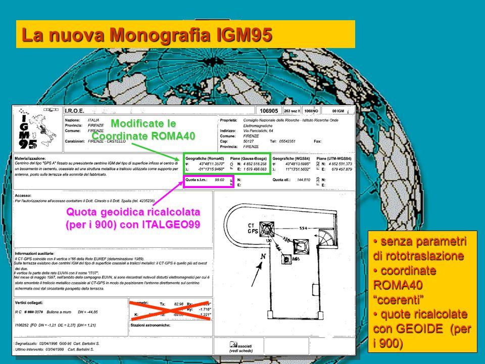 La nuova Monografia IGM95