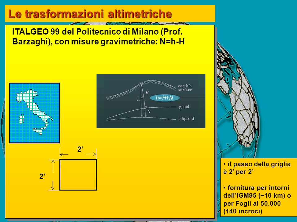 Le trasformazioni altimetriche
