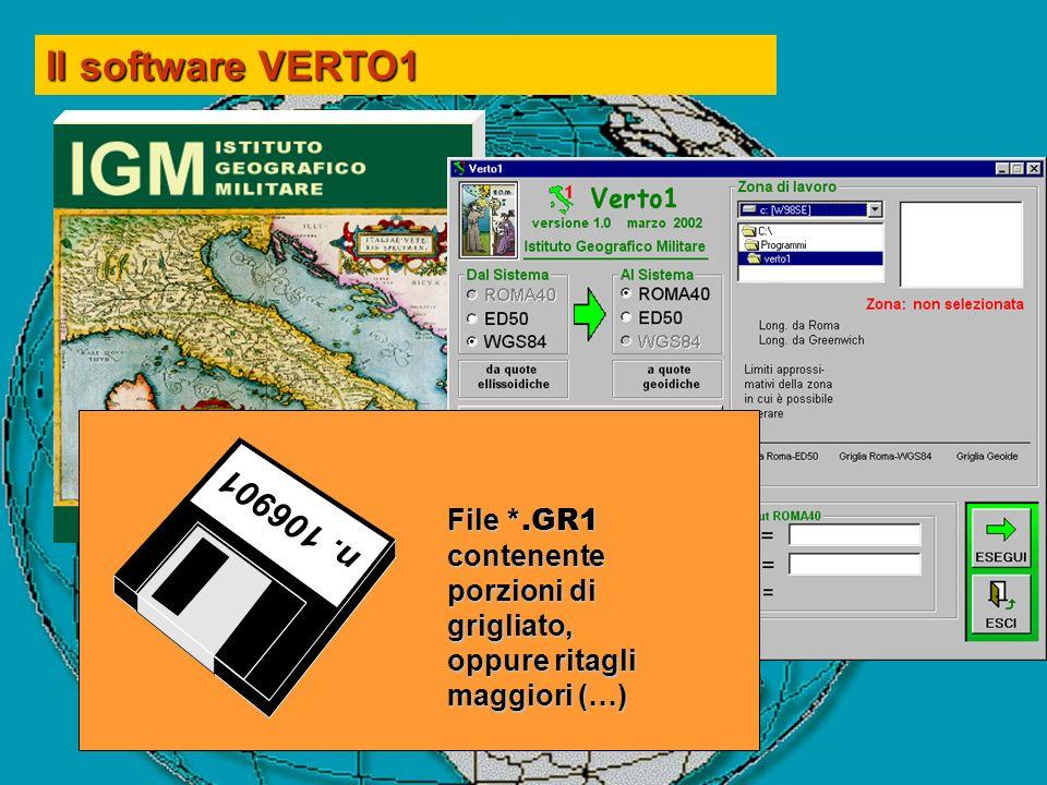 Il software VERTO1 n. 106901.