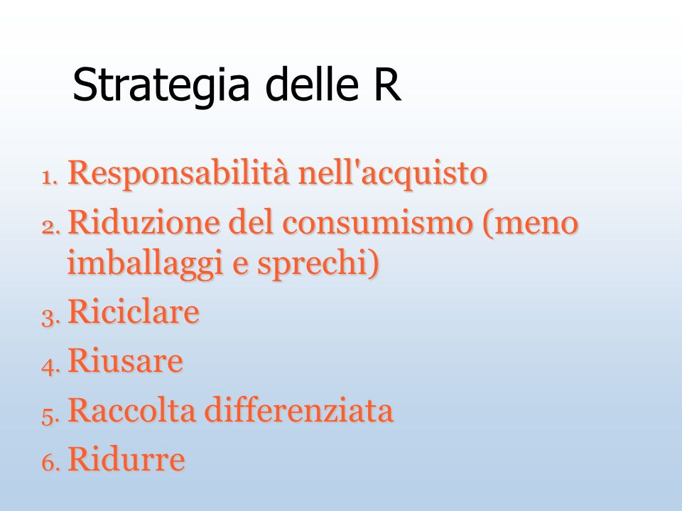 Strategia delle R Responsabilità nell acquisto
