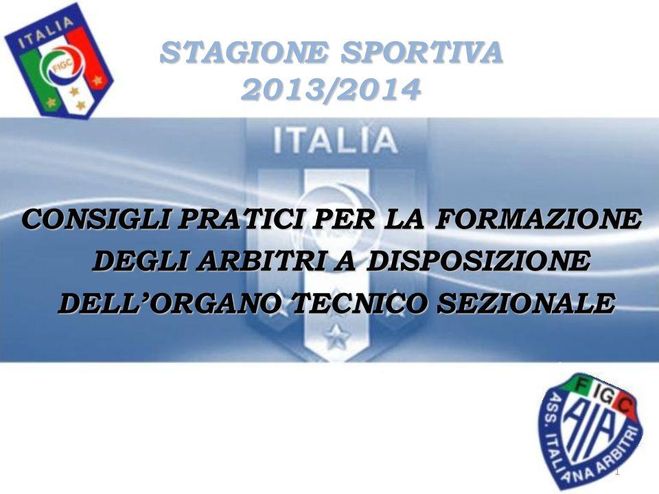 STAGIONE SPORTIVA 2013/2014 CONSIGLI PRATICI PER LA FORMAZIONE