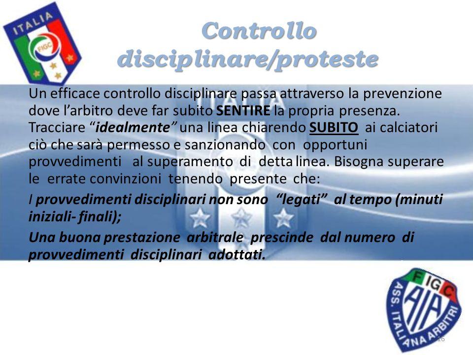 Controllo disciplinare/proteste