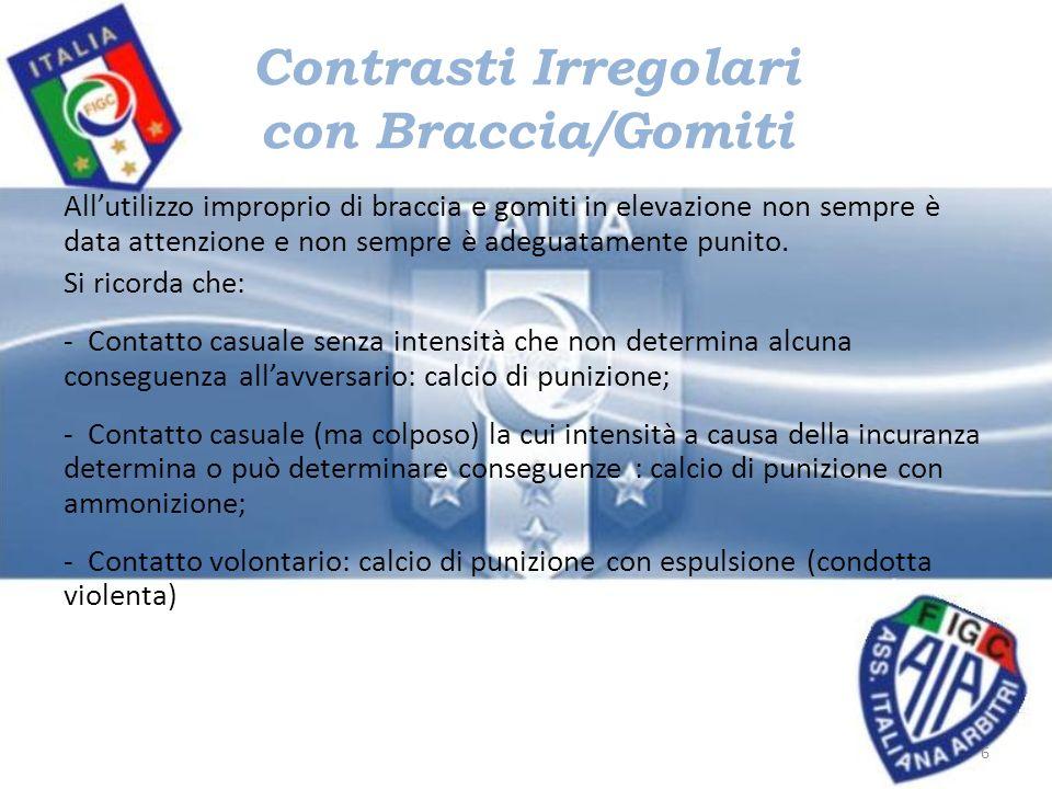 Contrasti Irregolari con Braccia/Gomiti