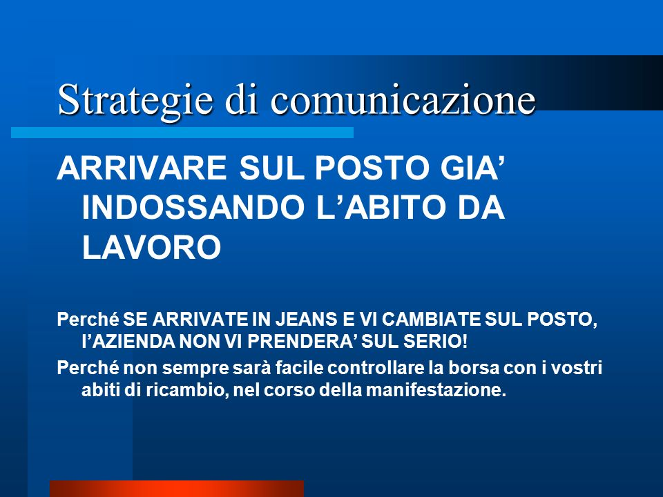 Strategie di comunicazione