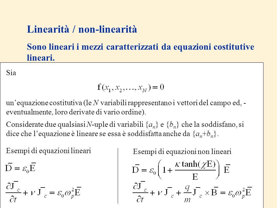 Linearità / non-linearità