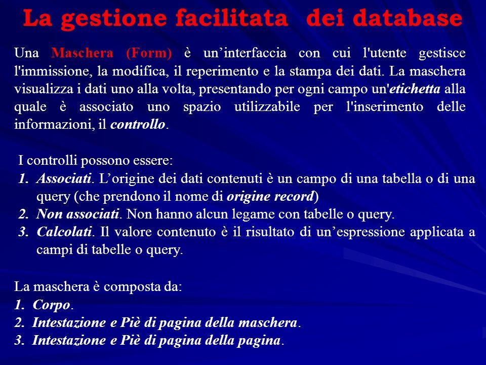 La gestione facilitata dei database