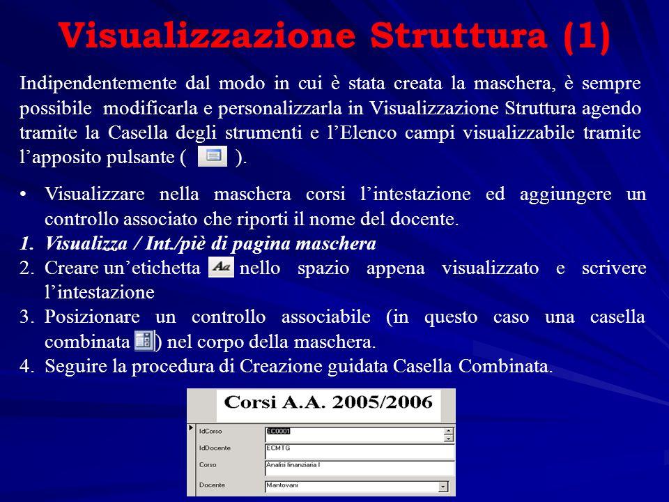 Visualizzazione Struttura (1)