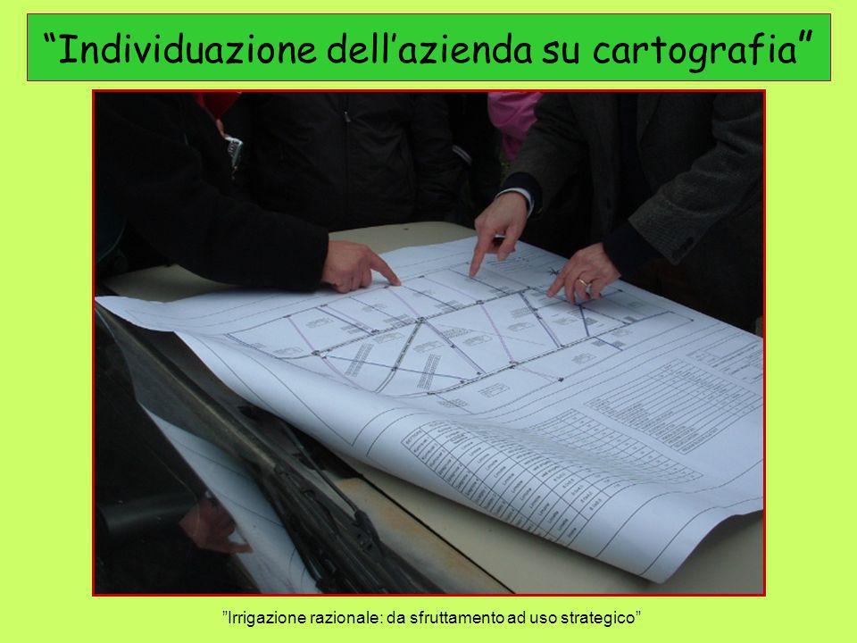 Individuazione dell'azienda su cartografia