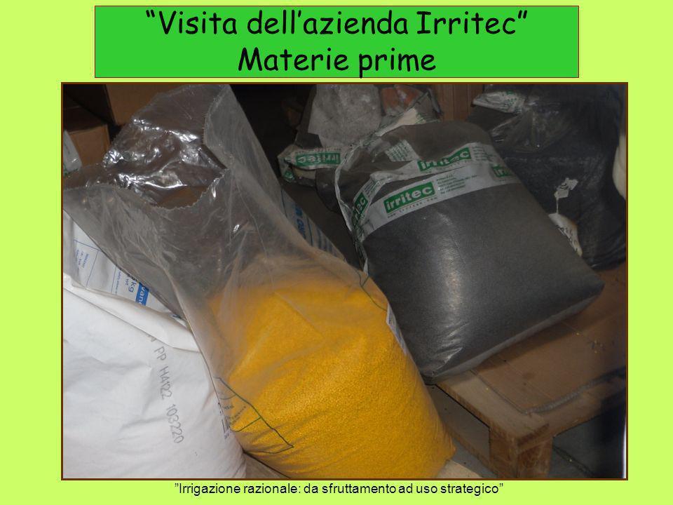 Visita dell'azienda Irritec Materie prime