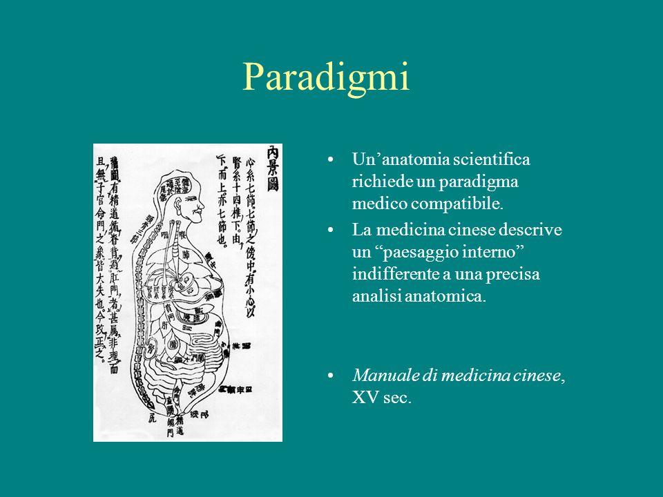Paradigmi Un'anatomia scientifica richiede un paradigma medico compatibile.
