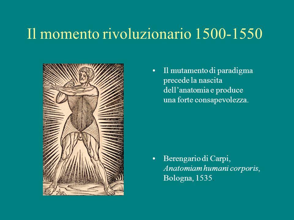 Il momento rivoluzionario 1500-1550