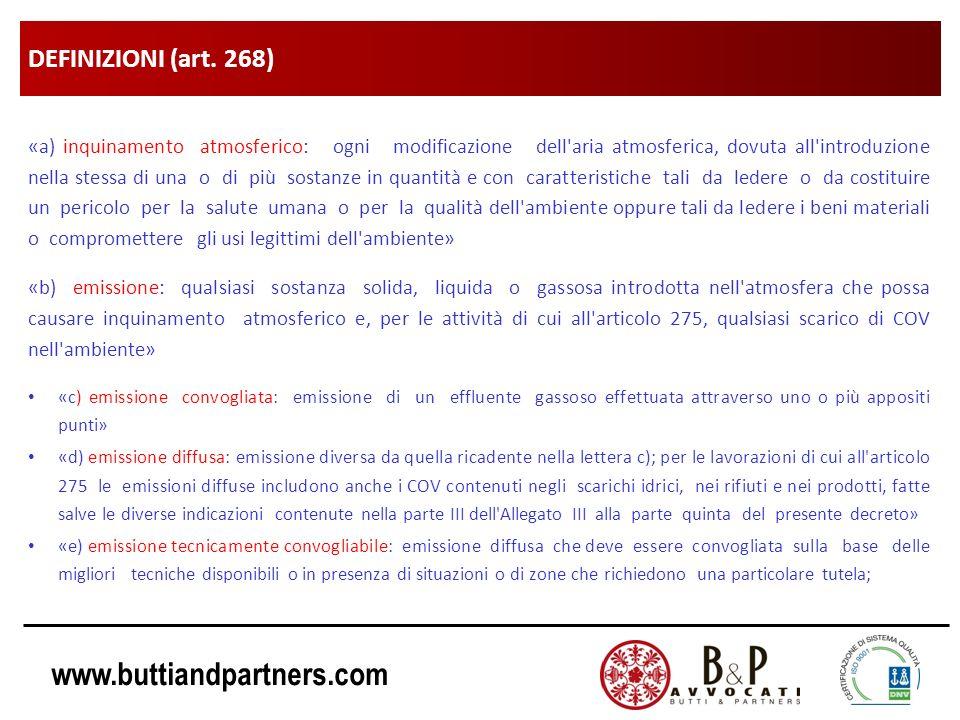 DEFINIZIONI (art. 268)