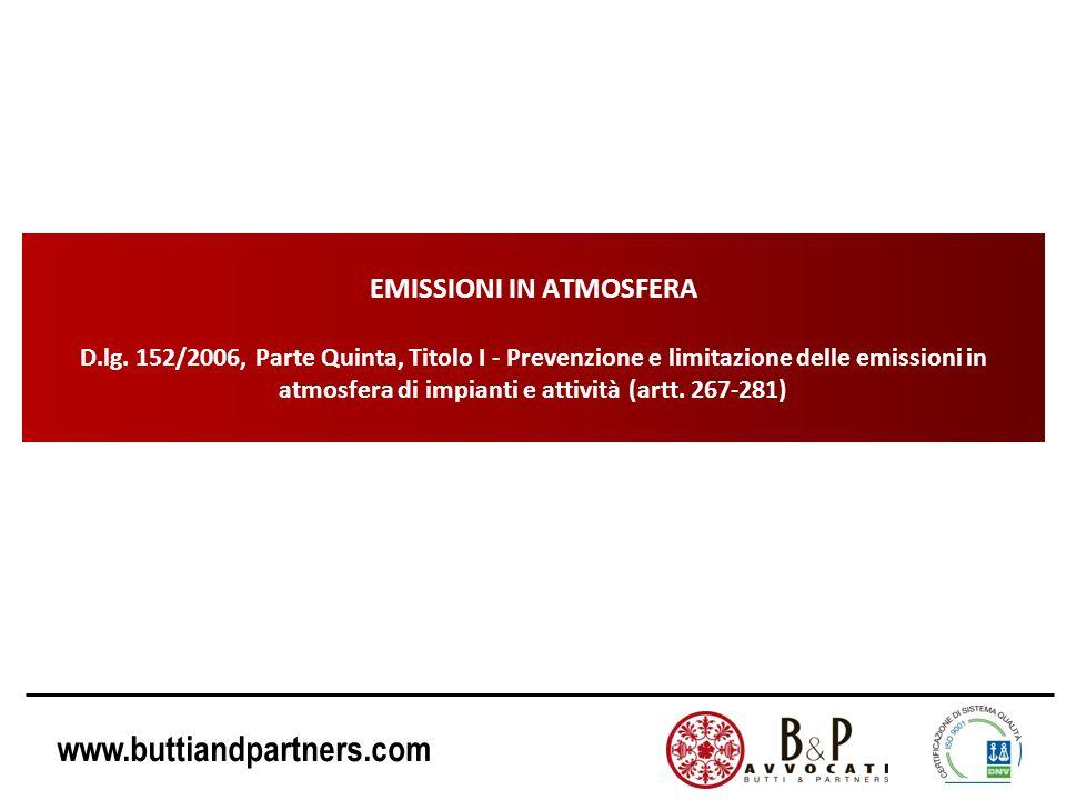 EMISSIONI IN ATMOSFERA D. lg