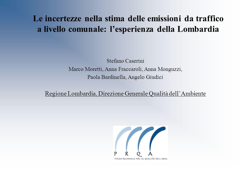 Le incertezze nella stima delle emissioni da traffico a livello comunale: l'esperienza della Lombardia