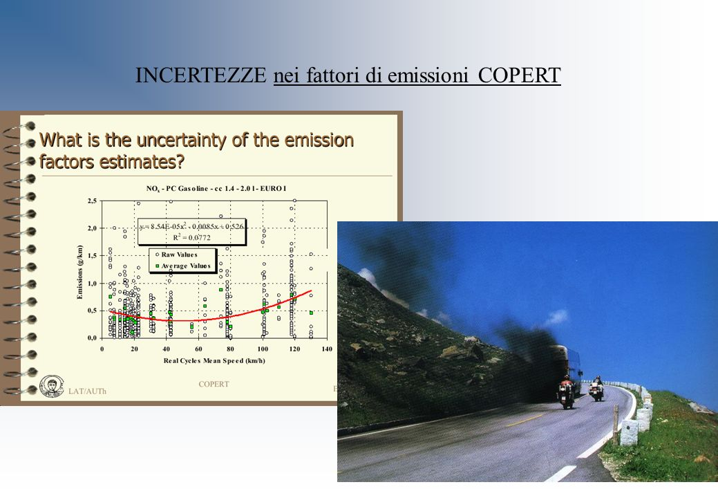 INCERTEZZE nei fattori di emissioni COPERT