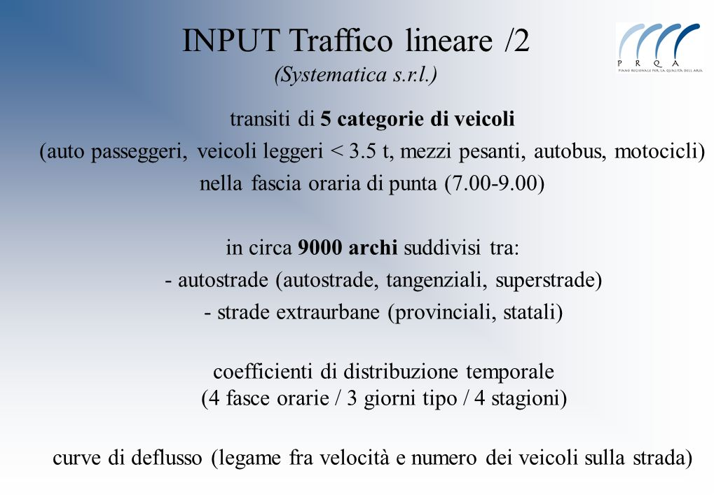 INPUT Traffico lineare /2 (Systematica s.r.l.)