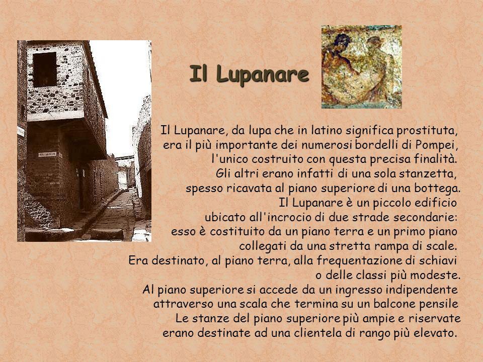 Il Lupanare Il Lupanare, da lupa che in latino significa prostituta,