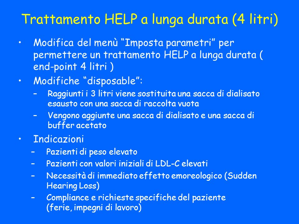 Trattamento HELP a lunga durata (4 litri)