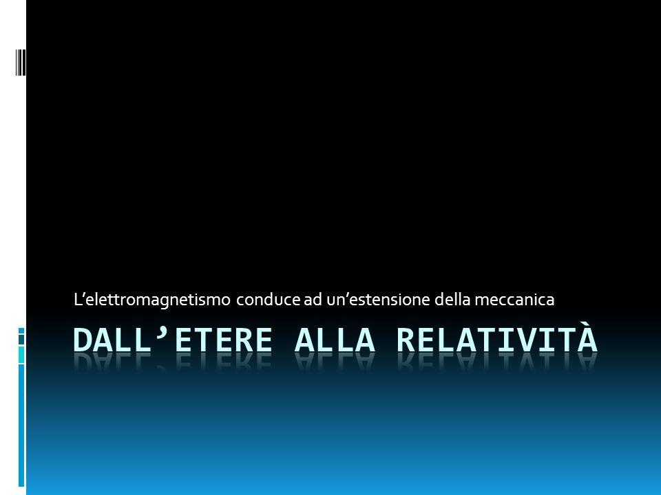Dall'etere alla relatività