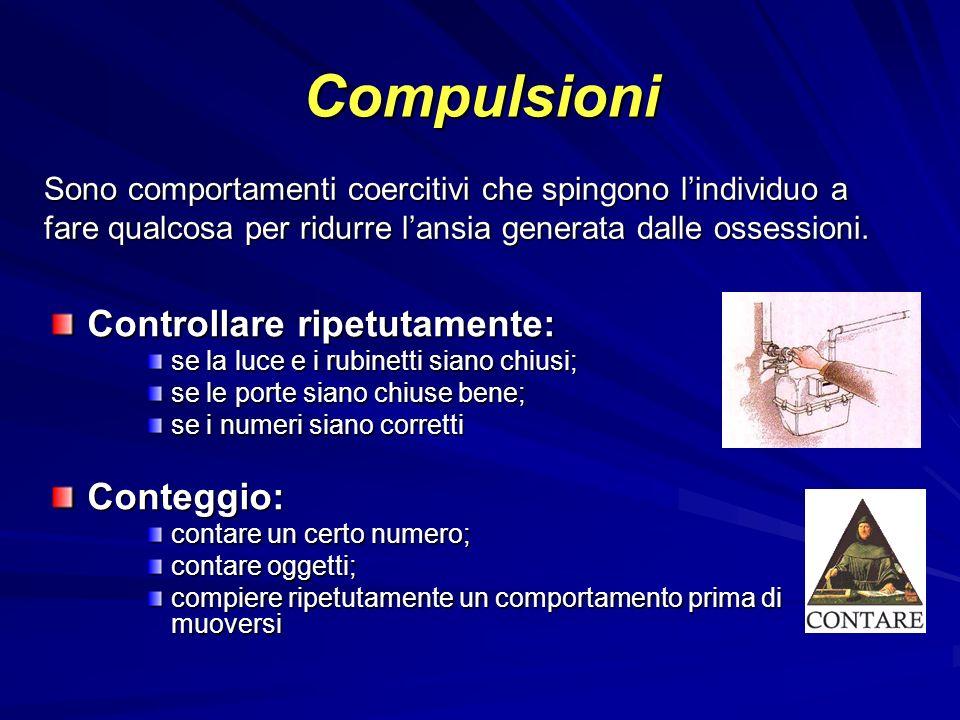 Compulsioni Controllare ripetutamente: Conteggio: