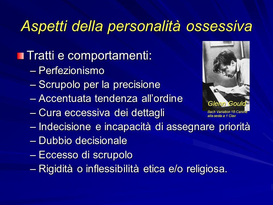Aspetti della personalità ossessiva