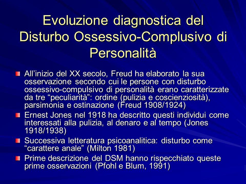 Evoluzione diagnostica del Disturbo Ossessivo-Complusivo di Personalità