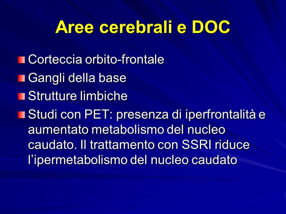 Aree cerebrali e DOC Corteccia orbito-frontale Gangli della base
