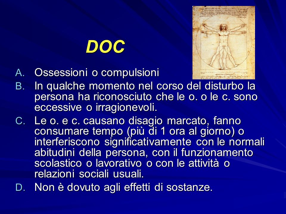 DOC Ossessioni o compulsioni
