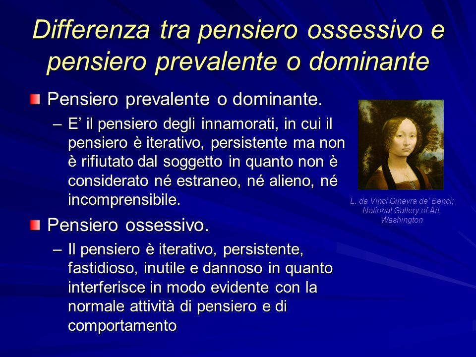 Differenza tra pensiero ossessivo e pensiero prevalente o dominante