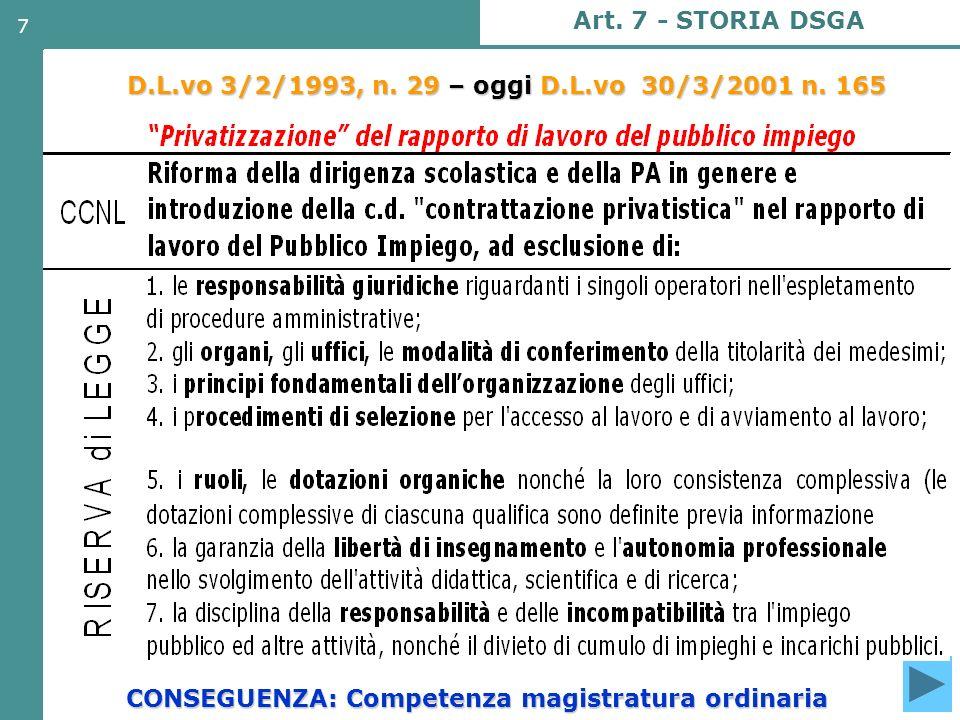 CONSEGUENZA: Competenza magistratura ordinaria