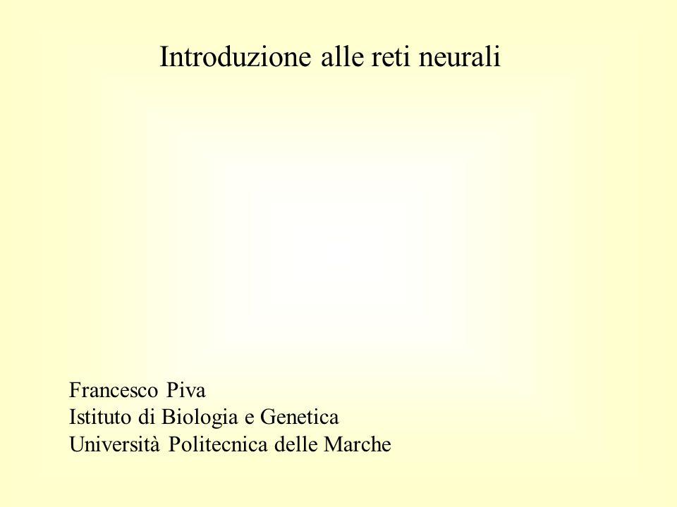Introduzione alle reti neurali