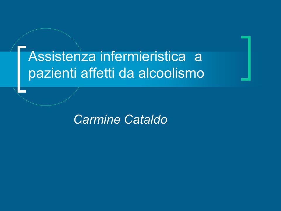 Assistenza infermieristica a pazienti affetti da alcoolismo