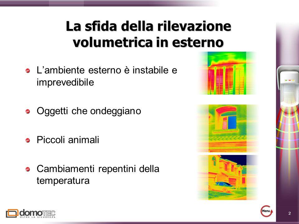 La sfida della rilevazione volumetrica in esterno