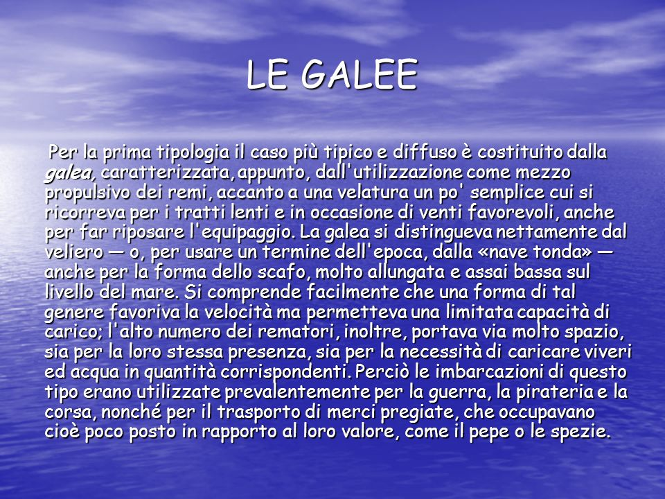 LE GALEE