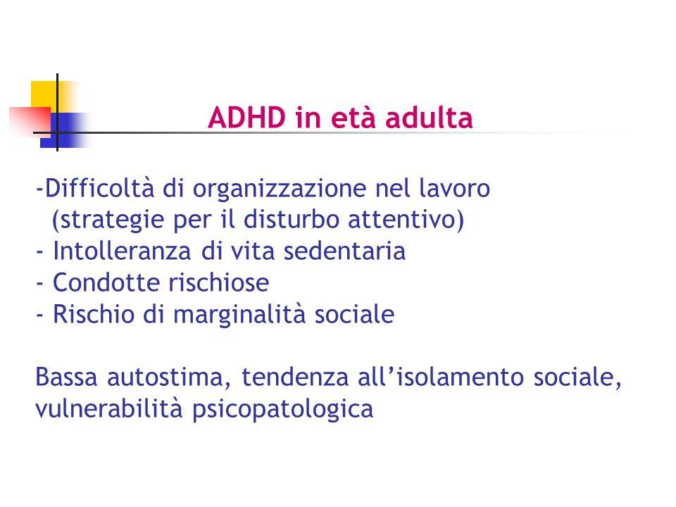 ADHD in età adulta Difficoltà di organizzazione nel lavoro