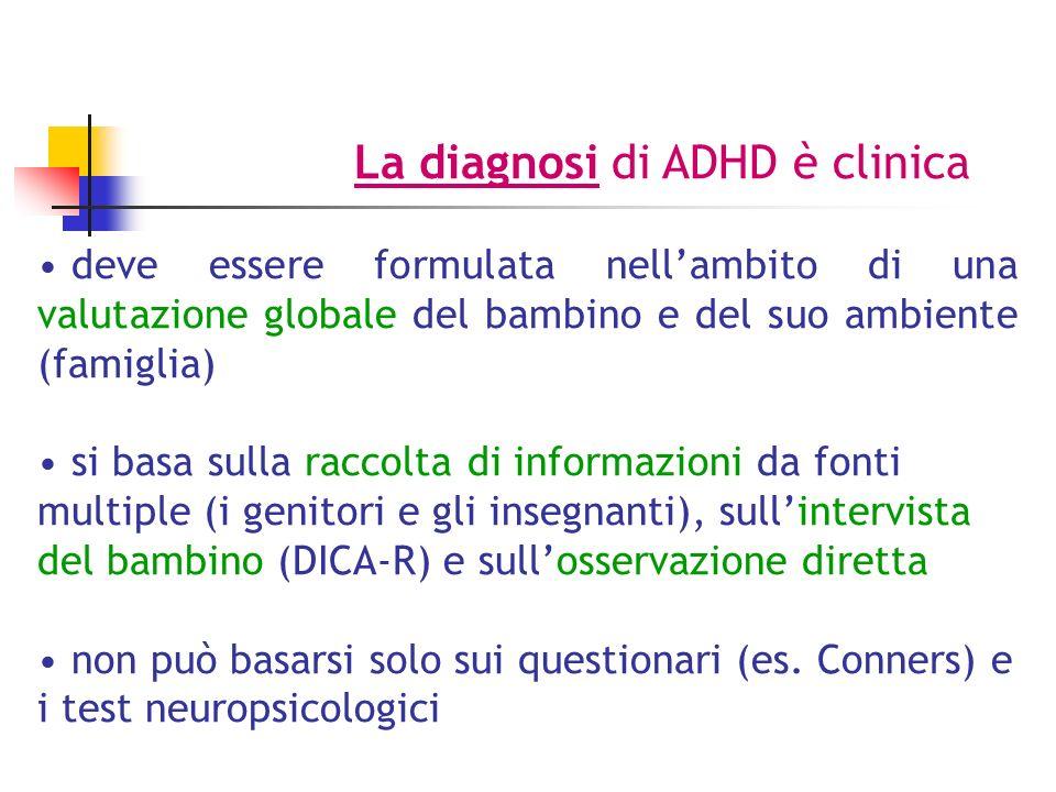 La diagnosi di ADHD è clinica