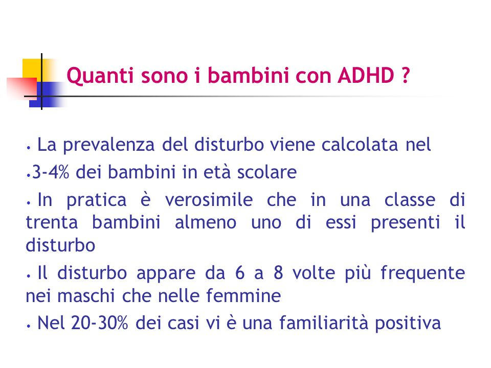 Quanti sono i bambini con ADHD
